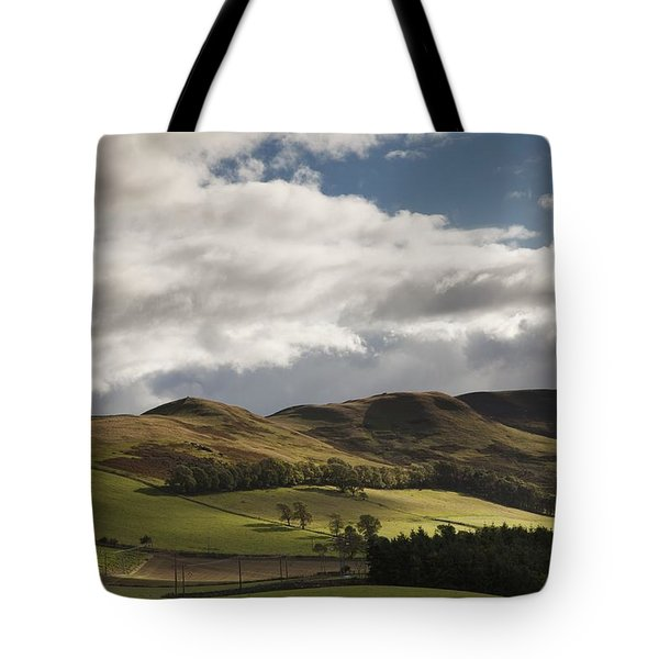 A Landscape With Rolling Hills And Tote Bag by John Short