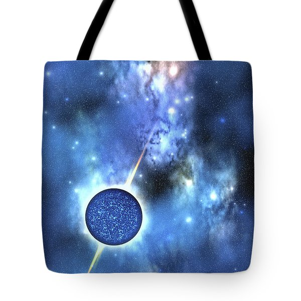 A Large Star With Concentrated Matter Tote Bag by Corey Ford