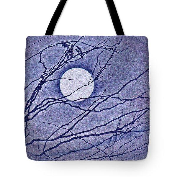 A Las Vegas January Full Moon Tote Bag by Carl Deaville