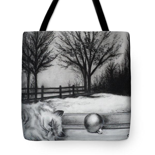 A Lazy Winter Day Tote Bag by Carla Carson