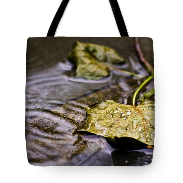 A Leaf In The Rain Tote Bag