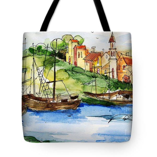 A Little Fisherman's Village Tote Bag