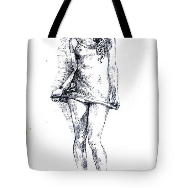 A Little Teasing  Tote Bag by Alban Dizdari