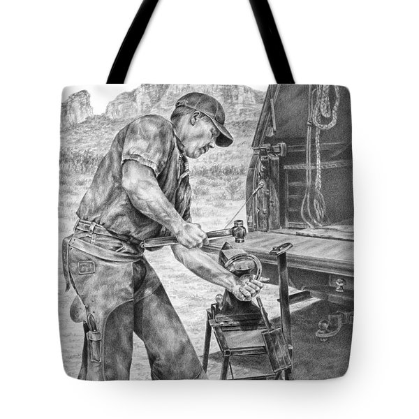 A Man And His Trade - Farrier Art Print Tote Bag