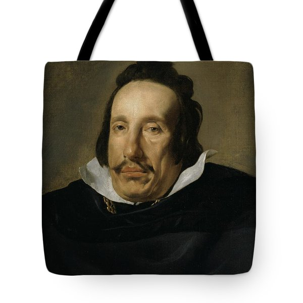 A Man Tote Bag by Diego Rodriguez de Silva y Velazquez