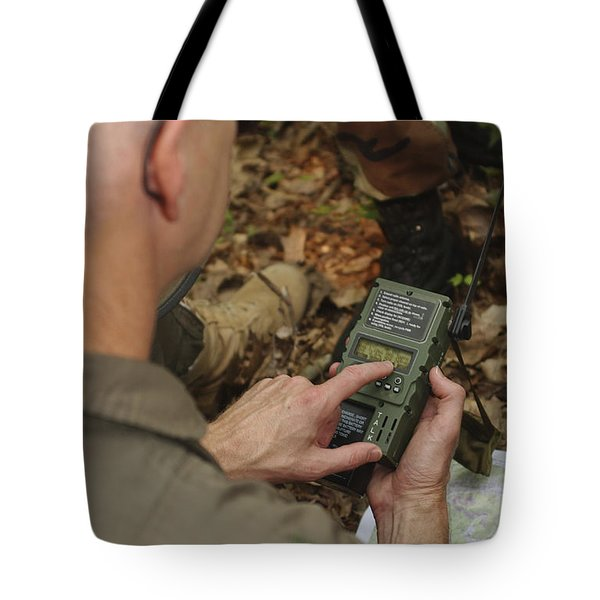 A Member Of The 130th Airlift Wing Tote Bag by Stocktrek Images