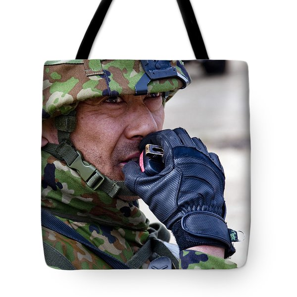 A Member Of The Japan Ground Tote Bag by Stocktrek Images