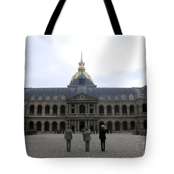 A Military Awards Ceremony Tote Bag by Stocktrek Images