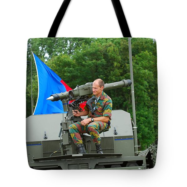 A Mistral Surface To Air Missile Sam Tote Bag by Luc De Jaeger