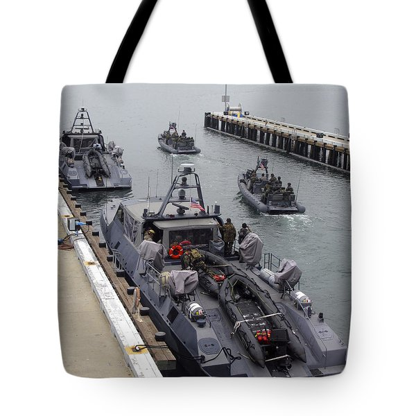 A Mk-v Special Operations Craft Tied Tote Bag by Michael Wood