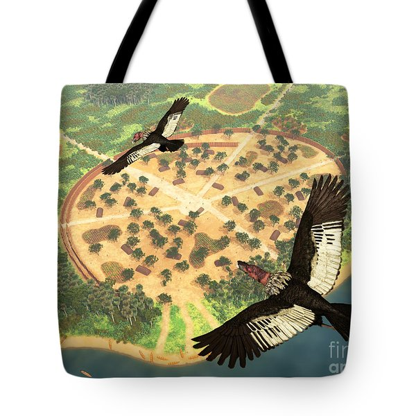 A Pair Of Andean Condors Fly Over An Tote Bag by Walter Myers