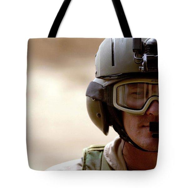 A Pararescueman Checks Tote Bag by Stocktrek Images
