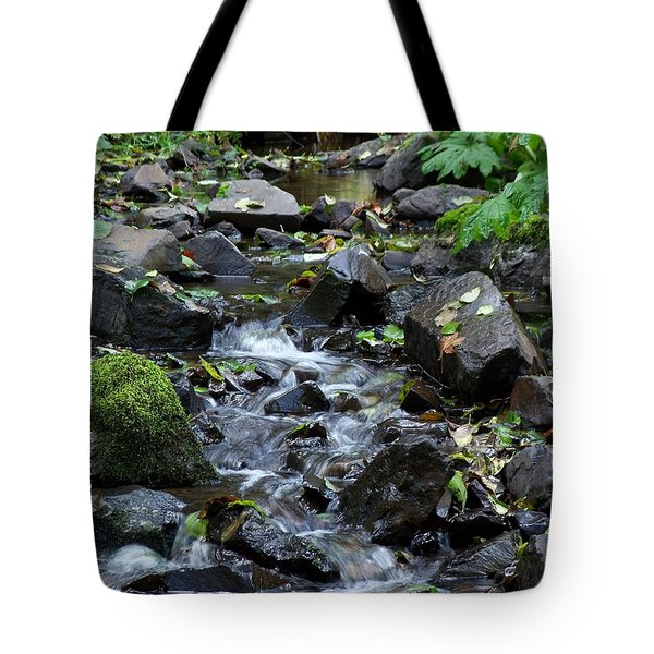 A Peaceful Stream Tote Bag by Chalet Roome-Rigdon