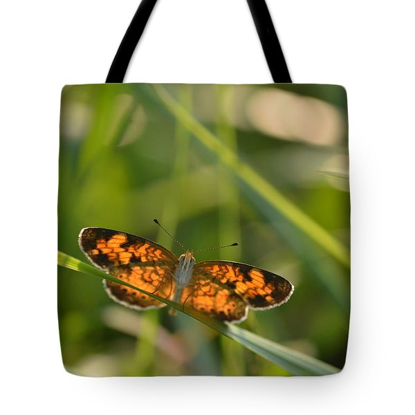Tote Bag featuring the photograph A Pearl In The Grass by JD Grimes