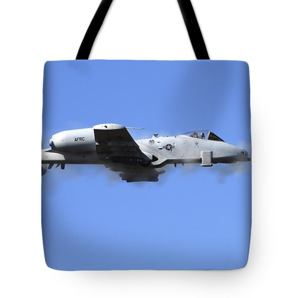 A Pilot In An A-10 Thunderbolt II Fires Tote Bag by Stocktrek Images