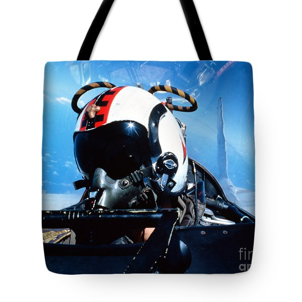 A Pilot Sitting In The Back Tote Bag by Dave Baranek