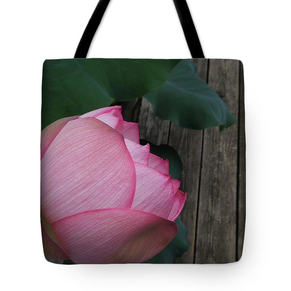 A Pink Lotus Flower Tote Bag by Chad and Stacey Hall