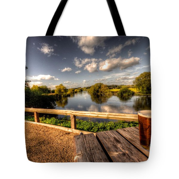 A Pint With A View  Tote Bag by Rob Hawkins