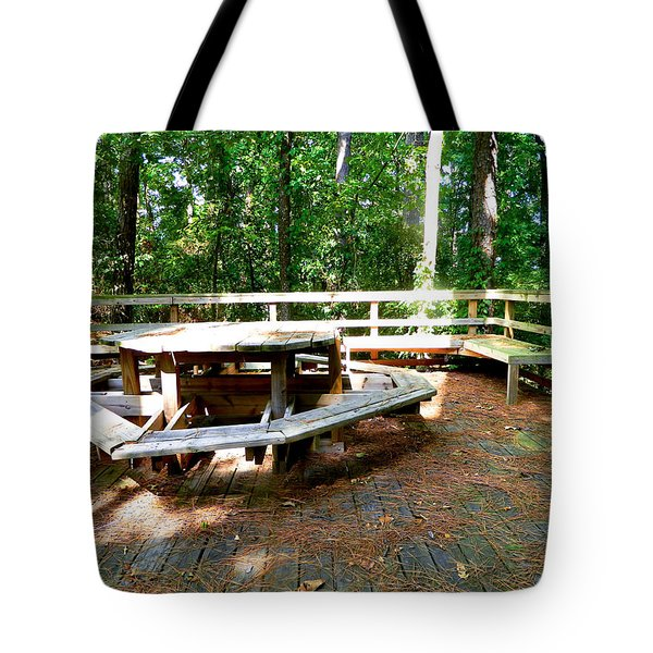 Tote Bag featuring the photograph A Place For Gathering by Ester  Rogers
