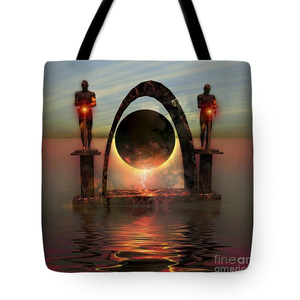A Portal To Another Dimensional World Tote Bag by Corey Ford