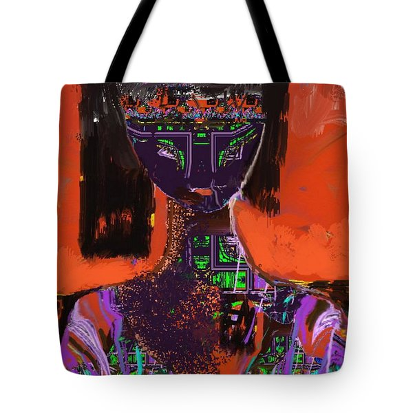 A Portrait Of A Girl Tote Bag by Nedunseralathan R
