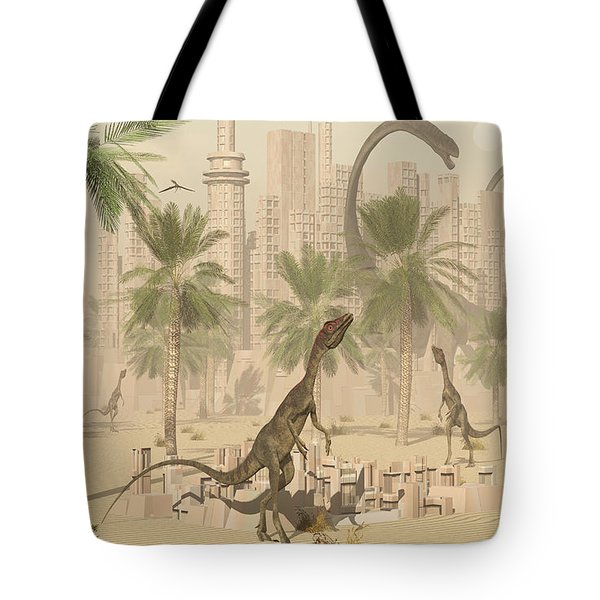 A Prehistoric City Now Void Of Any Life Tote Bag by Mark Stevenson