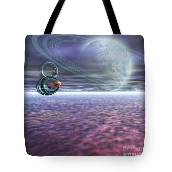 A Probe From Earth Is Sent To Jupiter Tote Bag by Corey Ford