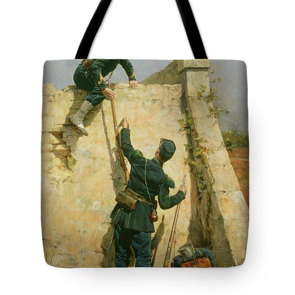 A Quick Escape Tote Bag by Etienne Prosper Berne-Bellecour
