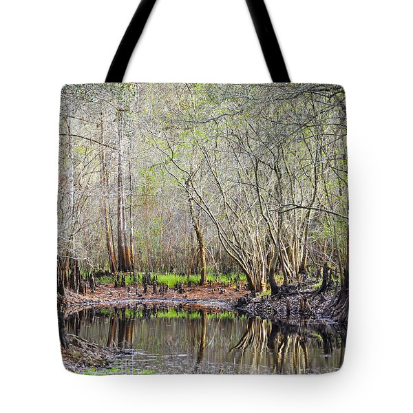 A Quiet Back Woods Place Tote Bag by Carolyn Marshall