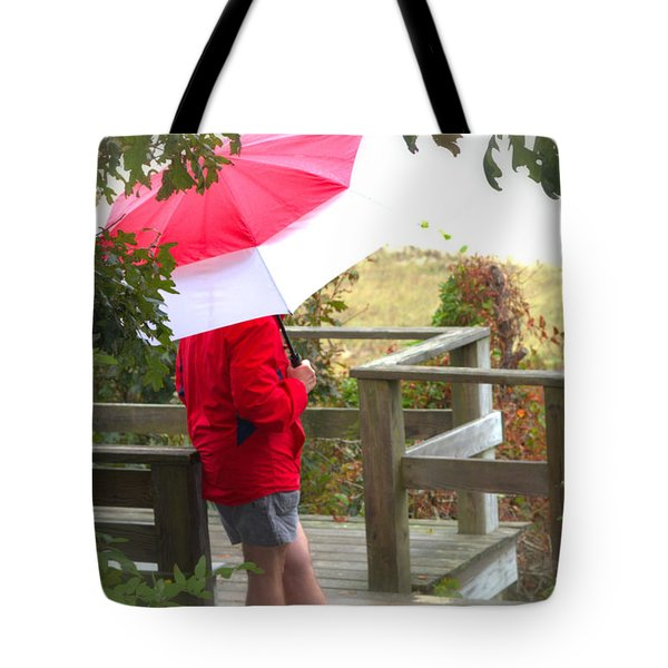 A Rainy Summer's Day Tote Bag by Karol Livote