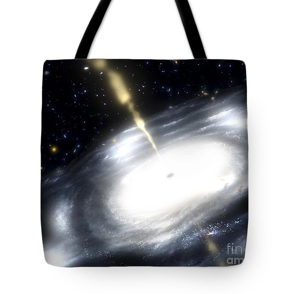 A Rare Galaxy That Is Extremely Dusty Tote Bag by Stocktrek Images