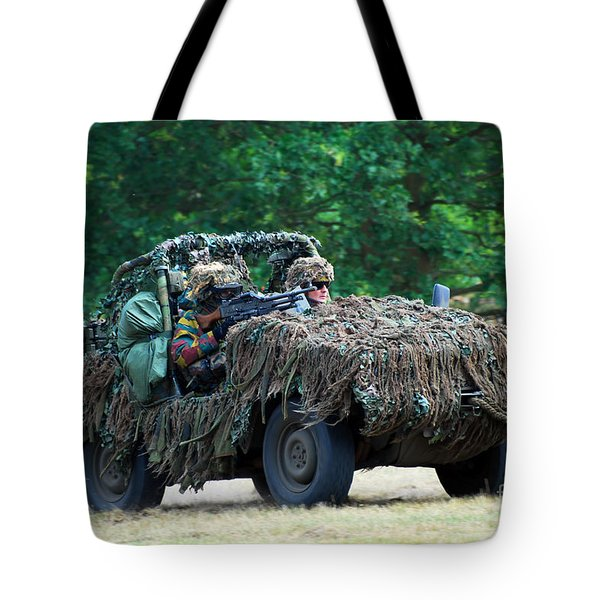 A Recce Unit Of The Belgian Army Tote Bag by Luc De Jaeger