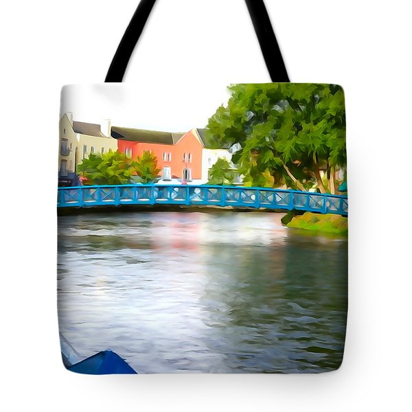 Tote Bag featuring the photograph A River Runs Through It by Charlie and Norma Brock