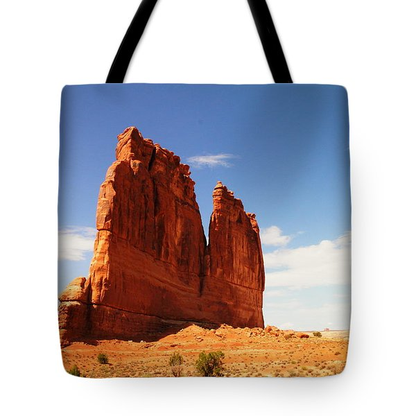 A Rock At Arches Tote Bag by Jeff Swan