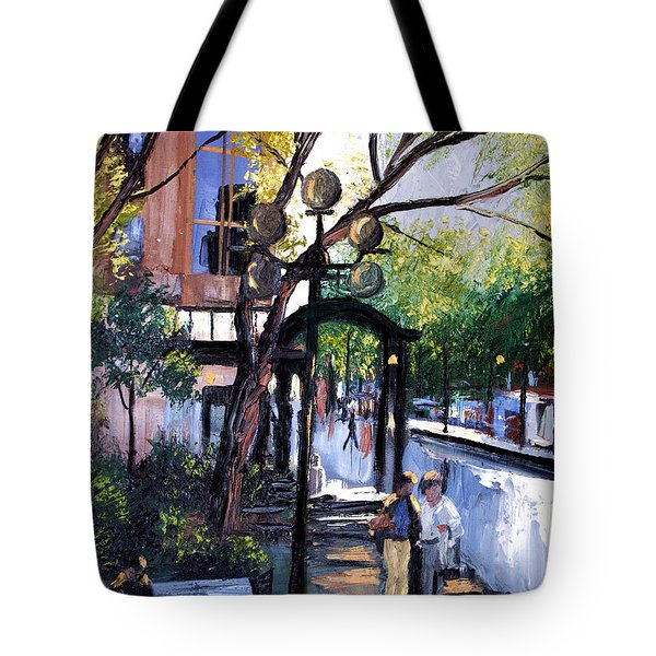 A Saturday Stroll  Tote Bag by Anthony Falbo