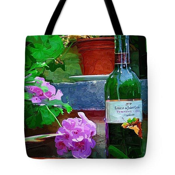 A Sip Of Wine Tote Bag by Amanda Moore