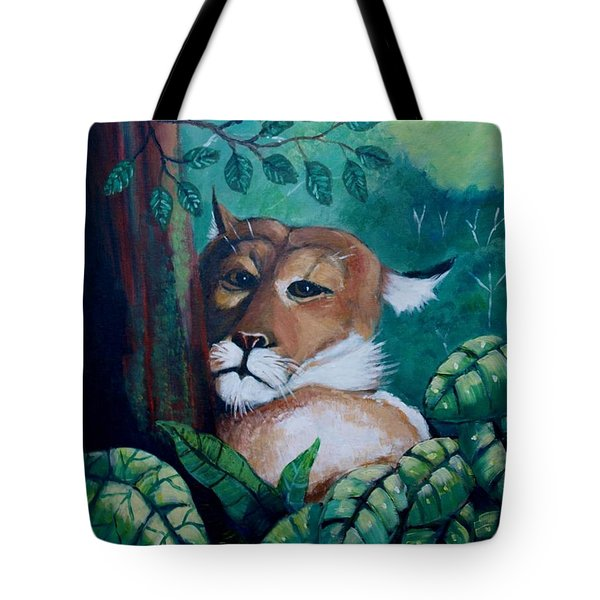 A Slightly Shy Furtive Look Tote Bag