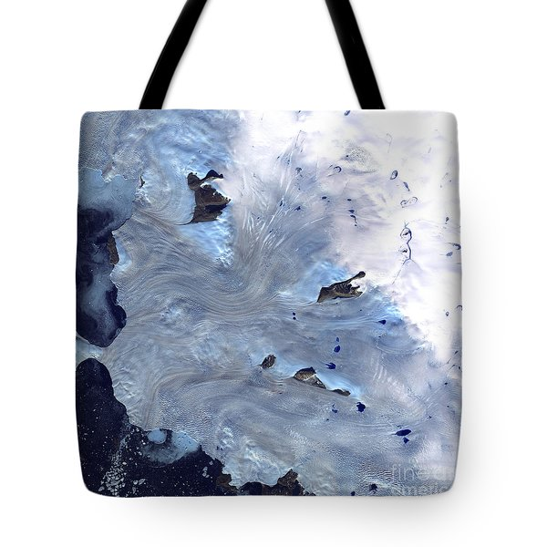 A Small Field Of Glaciers Surrounds Tote Bag