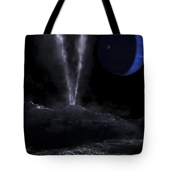 A Small Geyser On The Surface Tote Bag by Fahad Sulehria
