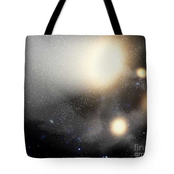 A Smash-up Of Galaxies Tote Bag by Stocktrek Images