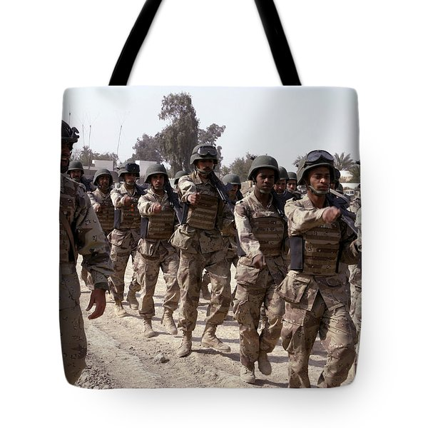 A Soldier Marches His Troops Tote Bag by Stocktrek Images