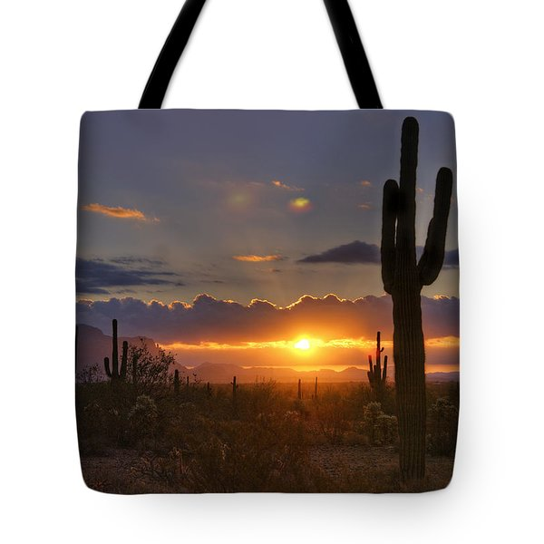 A Spectacular Sunrise  Tote Bag by Saija  Lehtonen