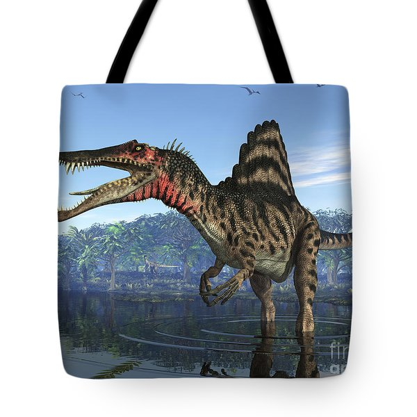 A Spinosaurus Searches For Its Next Tote Bag