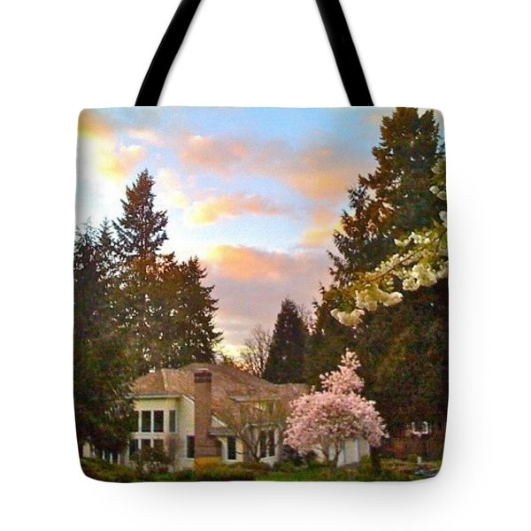 A Spring Evening - Lake Oswego Or Tote Bag
