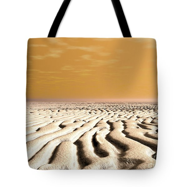 A Spring Sunrise Over The Surface Tote Bag by Walter Myers