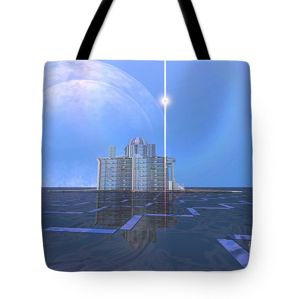 A Star Shines On Alien Architecture Tote Bag by Corey Ford