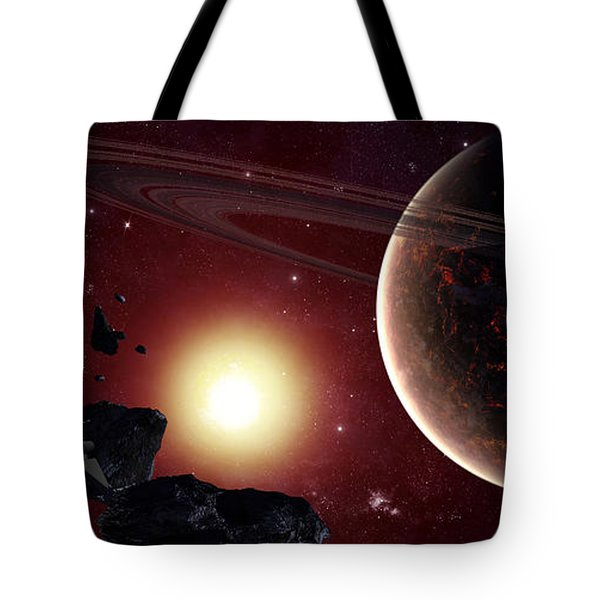 A Stealth Fighter En Route To Hades Tote Bag by Frieso Hoevelkamp