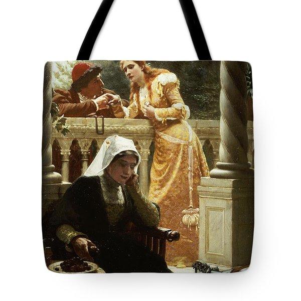 A Stolen Interview Tote Bag by Edmund Blair Leighton