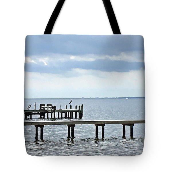 A Stormy Day On The Pamlico River Tote Bag