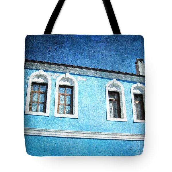 A Story In Blue Tote Bag